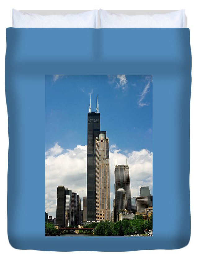 3scape Duvet Cover featuring the photograph Willis Tower Aka Sears Tower by Adam Romanowicz