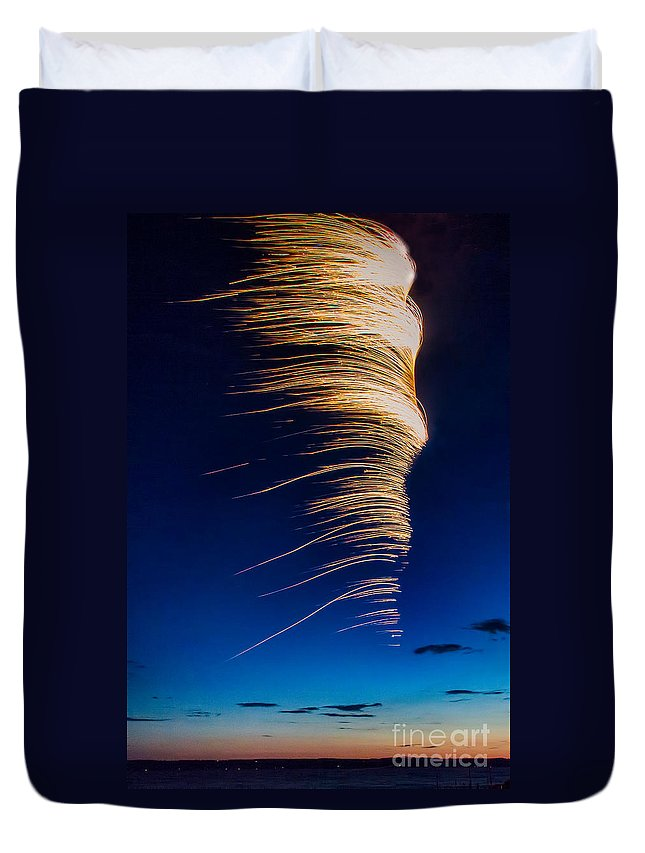 Michele Duvet Cover featuring the photograph Wind As Light by Michele Steffey