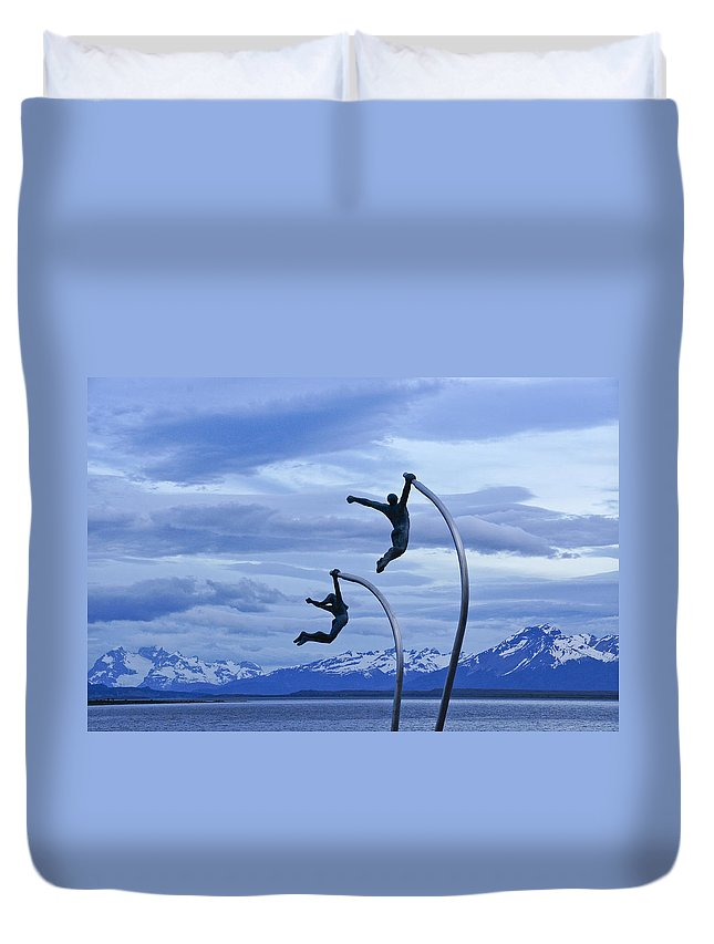 Chile Duvet Cover featuring the photograph Wind Dancers by Michele Burgess