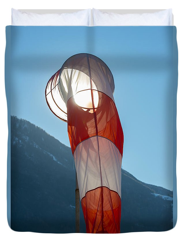 Windsock Duvet Cover featuring the photograph Wind Sock by Mats Silvan