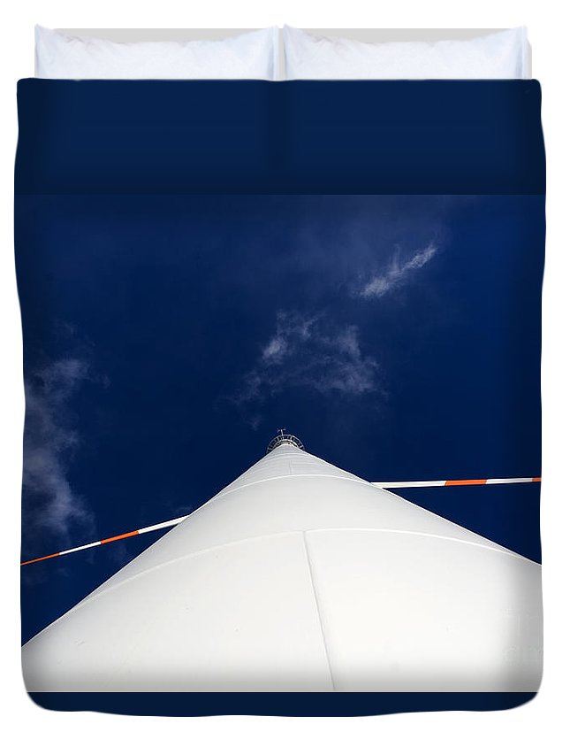 Turbine Duvet Cover featuring the photograph Wind Turbine by Alex Rowbotham