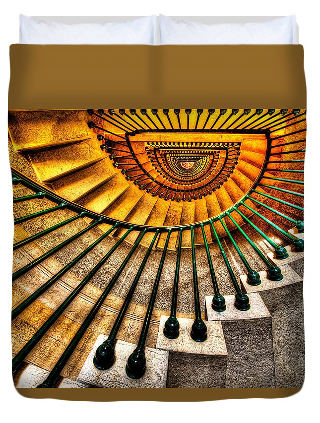 Architecture Duvet Cover featuring the photograph Winding Up by Chad Dutson