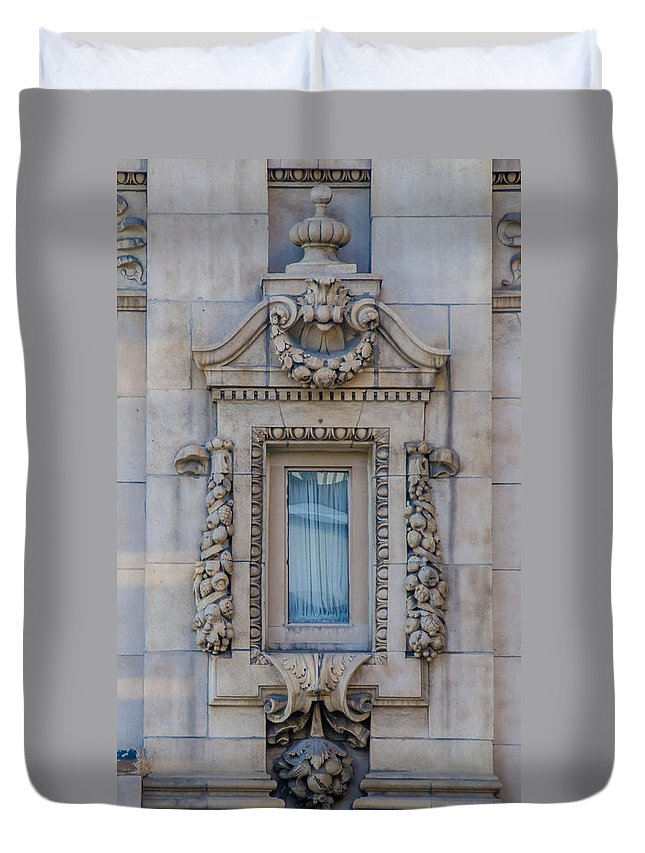 Guy Whiteley Photography Duvet Cover featuring the photograph Window Across The Street by Guy Whiteley