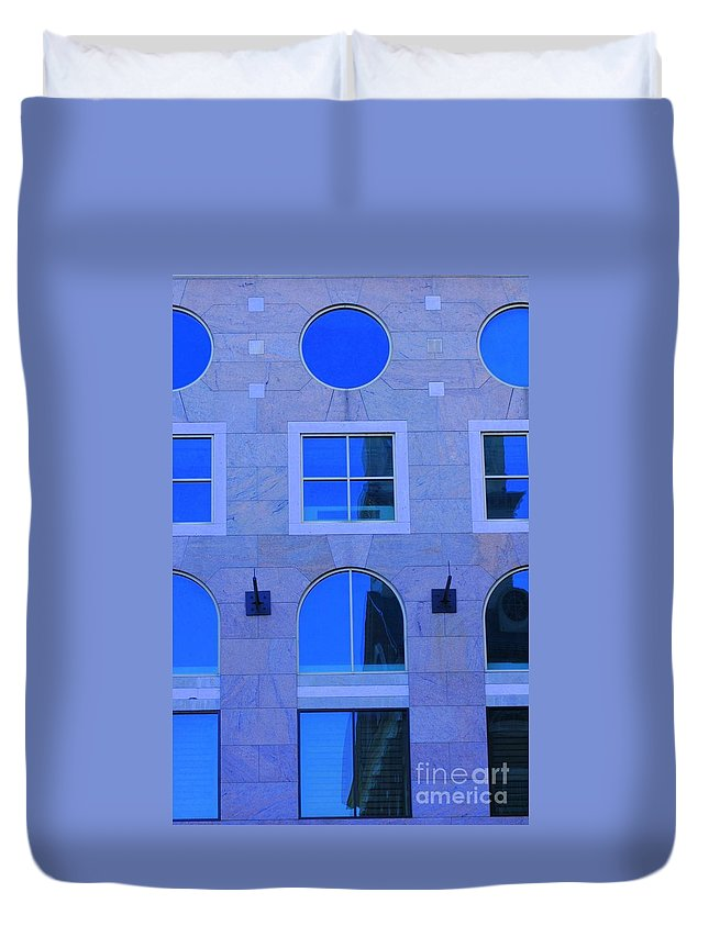 Window Duvet Cover featuring the photograph Window Shapes by Kathleen Struckle