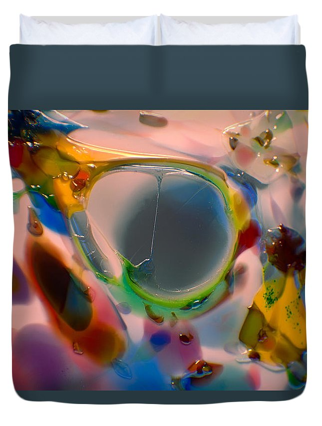 Glass Duvet Cover featuring the photograph Window To A Soul by Omaste Witkowski