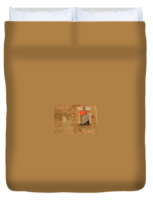Barcelona Duvet Cover featuring the photograph Window To Nowhere by Kris Hiemstra