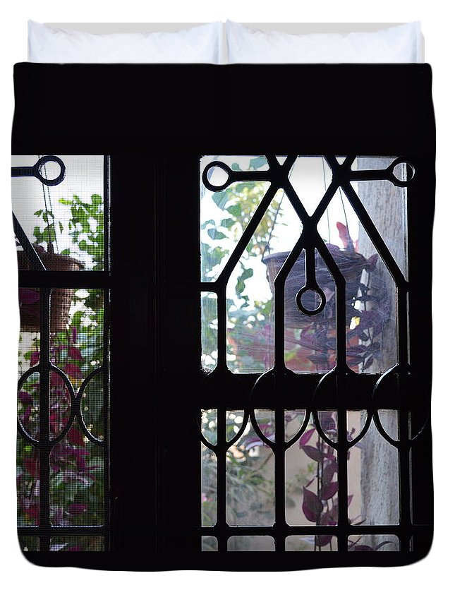 Window View Duvet Cover featuring the photograph Window View 2 by Usha Shantharam