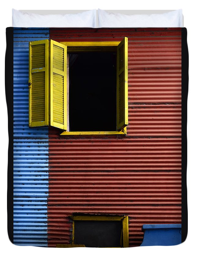 Door Duvet Cover featuring the photograph Windows And Doors Buenos Aires 16 by Bob Christopher
