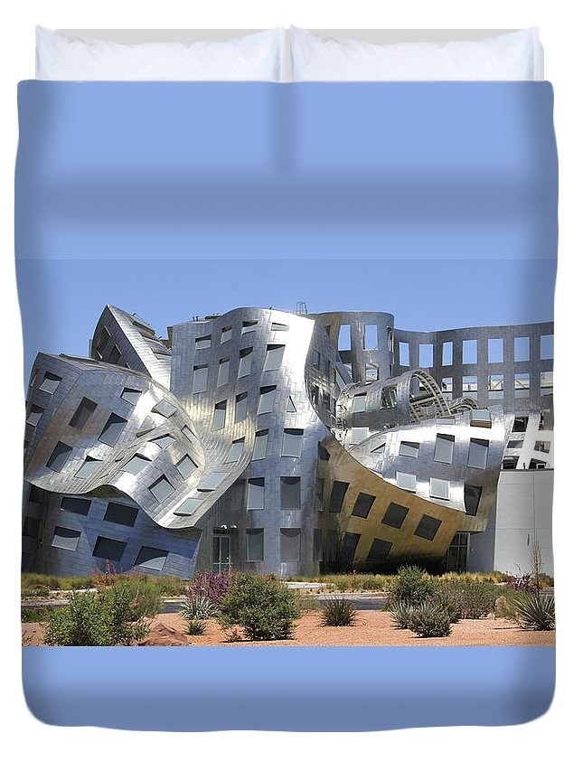 Surreal Building Duvet Cover featuring the photograph Windows Into The Mind by Mike McGlothlen