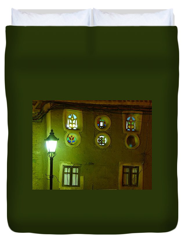 Architecture Duvet Cover featuring the photograph Windows Of Sanaa by Ivan Slosar