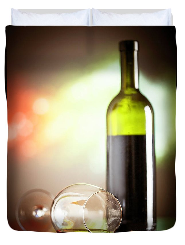 Alcohol Duvet Cover featuring the photograph Wine Concept by Grki