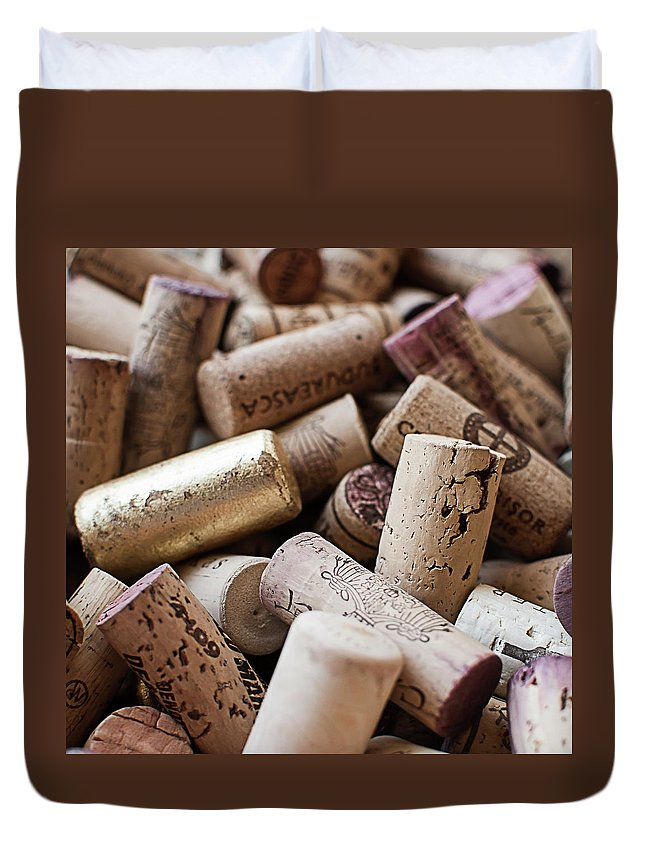 Wine Cork Duvet Cover featuring the photograph Wine Corks by Horia's Photography