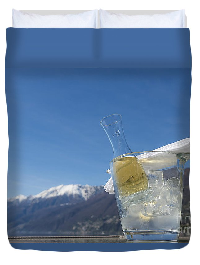 Wine Duvet Cover featuring the photograph Wine Cube by Mats Silvan