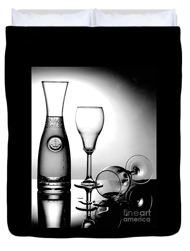 Gary Gingrich Duvet Cover featuring the photograph Wine Glasses by Gary Gingrich Galleries