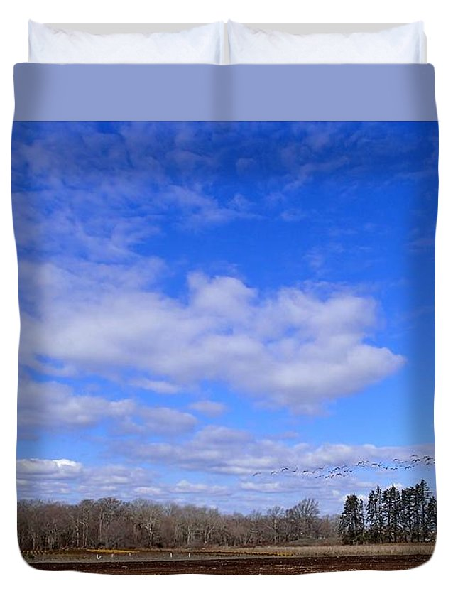 Nature Duvet Cover featuring the photograph Winter Blue by Robert Nickologianis