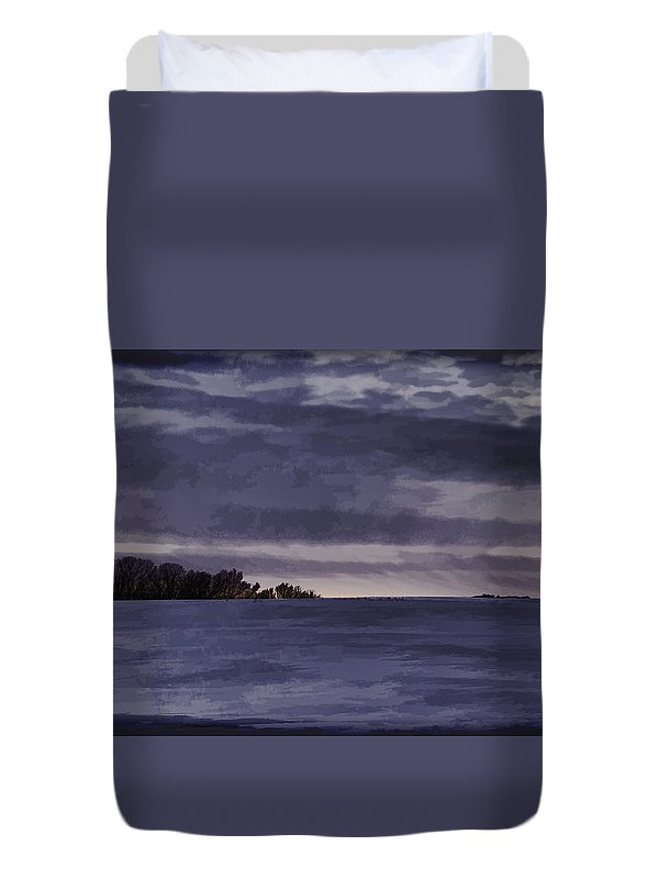 Winter Duvet Cover featuring the photograph Winter Blues by Thomas Young