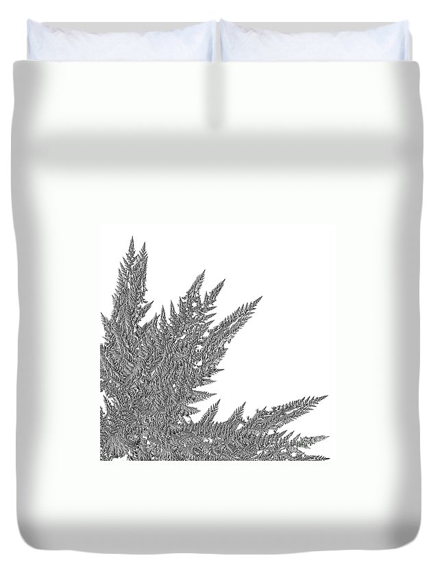 First Star Art Duvet Cover featuring the digital art Winter Branches By Jammer by First Star Art