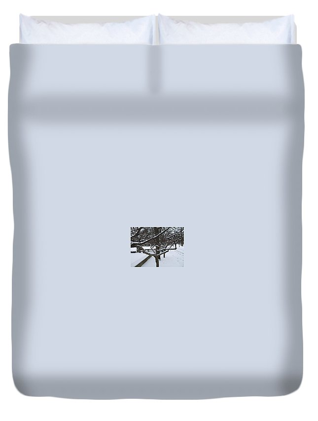 Landsape Duvet Cover featuring the photograph Winter by Jo Dawkins