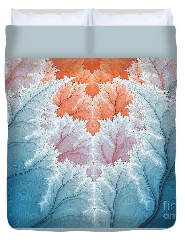 Fractal Duvet Cover featuring the digital art Winter Magic by Jutta Maria Pusl