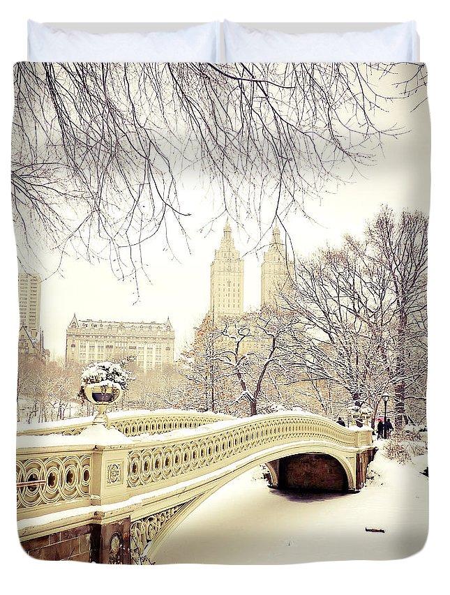 New York Snow Photographs Duvet Covers