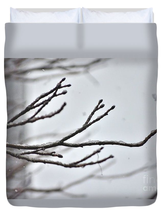 Winter Duvet Cover featuring the photograph Winter No. 2 by Anne Clark