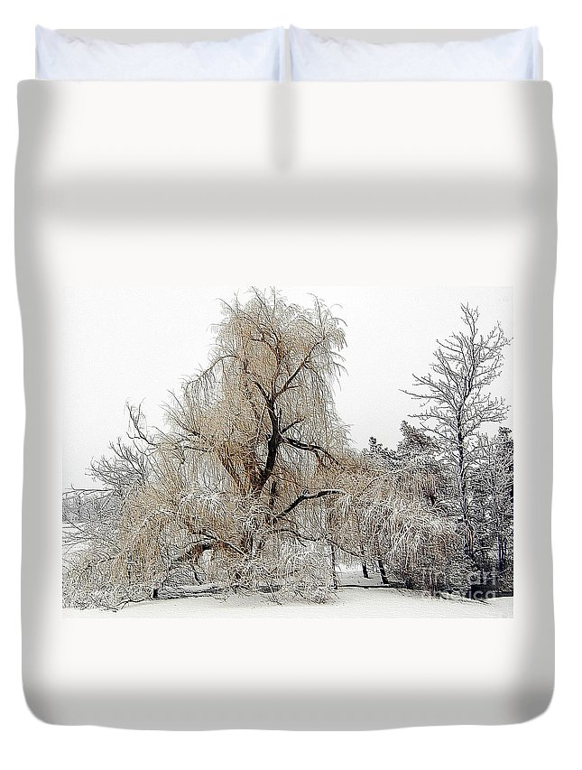Winter Duvet Cover featuring the photograph Winter Scene by Kathleen Struckle
