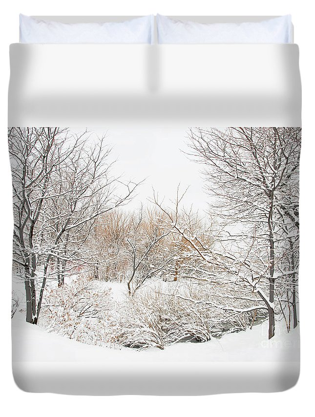 Winter Duvet Cover featuring the photograph Winter Solitude by Regina Geoghan