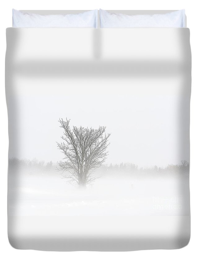 Blizzard Duvet Cover featuring the photograph Winter Storm by Teresa Zieba