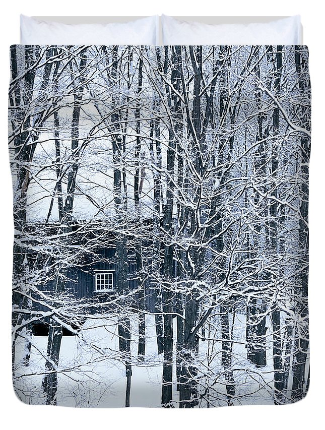 Winter Duvet Cover featuring the photograph Winter Window by Alan L Graham