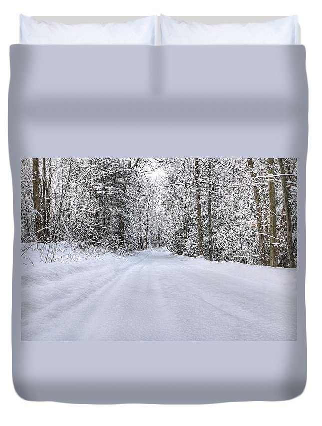 Winter Duvet Cover featuring the photograph Winter Wonderland by Donna Doherty