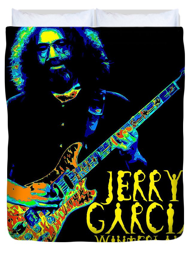 Jerry Garcia Duvet Cover featuring the photograph Winterland 1977 by Ben Upham