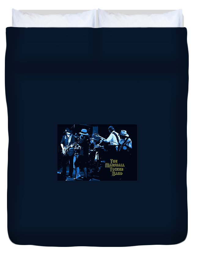 Marshall Tucker Band Duvet Cover featuring the photograph Winterland Blues With The Marshall Tucker Band 1976 by Ben Upham