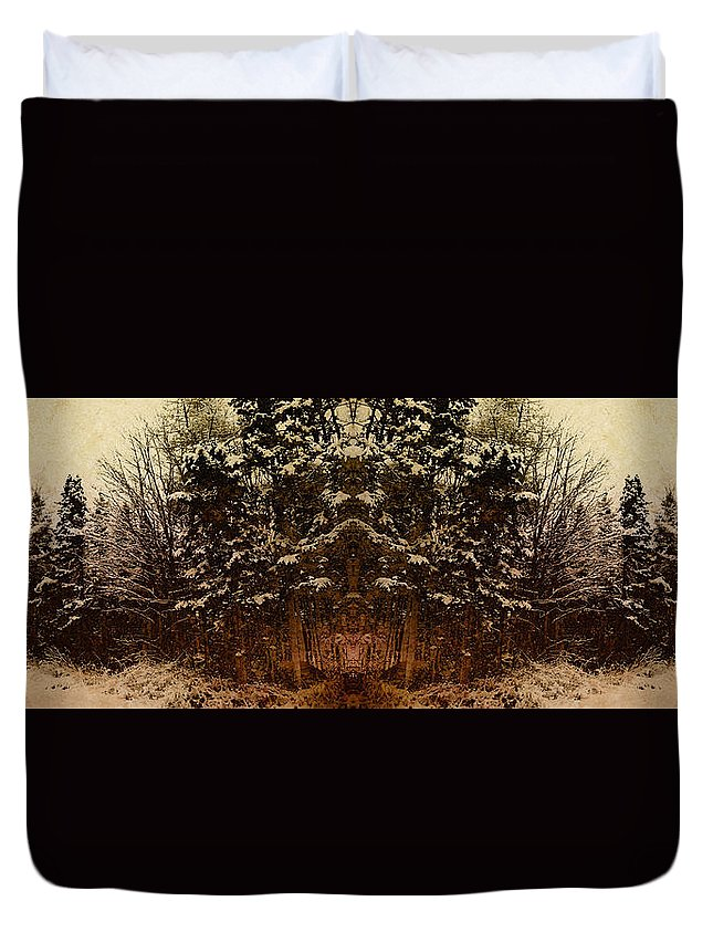 Tree Duvet Cover featuring the photograph Winterscape 3 by WB Johnston