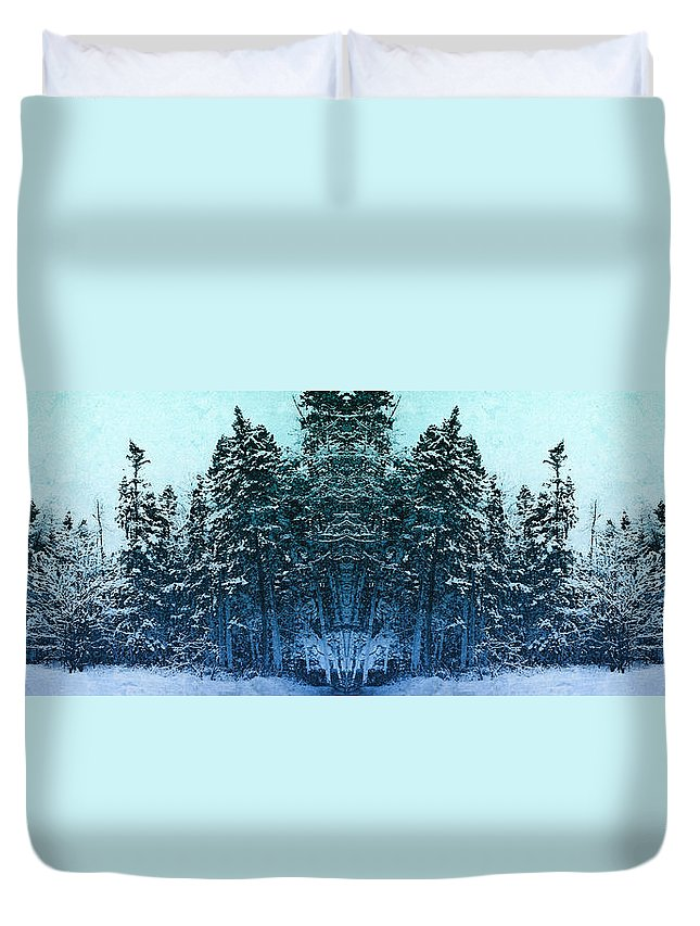 Tree Duvet Cover featuring the photograph Winterscape 6 by WB Johnston
