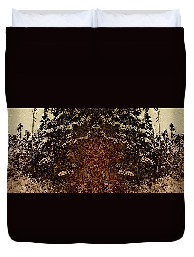 Tree Duvet Cover featuring the photograph Winterscape by WB Johnston