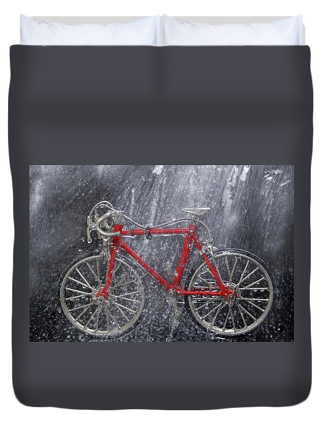 Winter Duvet Cover featuring the photograph Wintertime by Manfred Lutzius