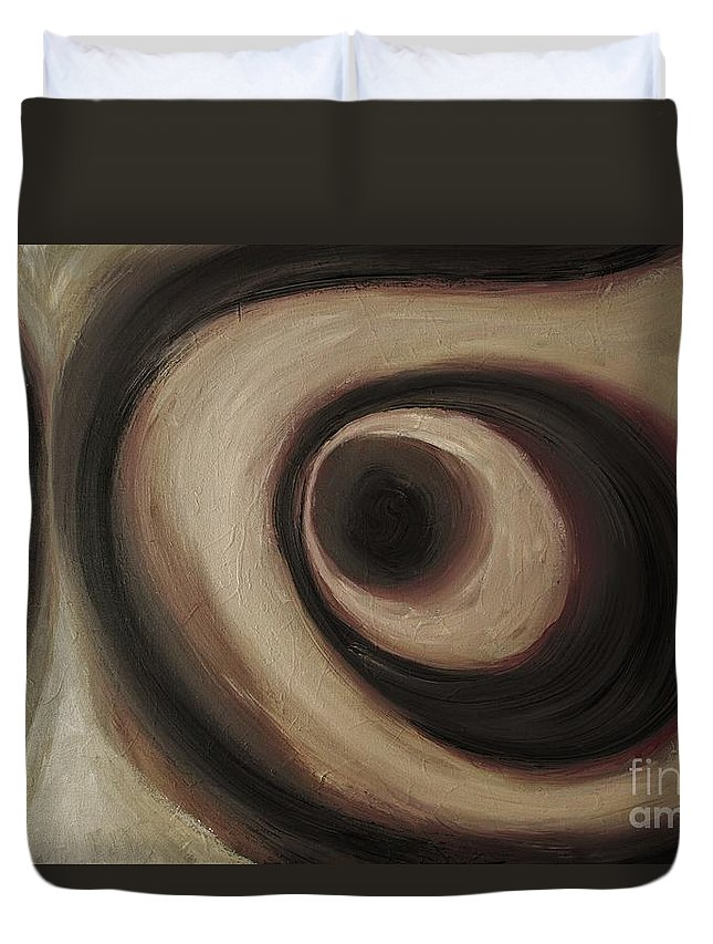 Abstract Duvet Cover featuring the painting Wise Guy by Wayne Cantrell