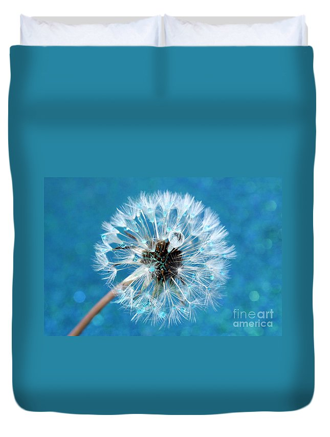 Dandelion Duvet Cover featuring the photograph Wish Come True by Krissy Katsimbras