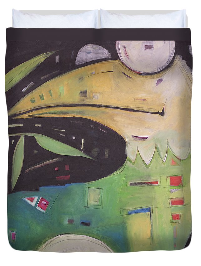 Bird Duvet Cover featuring the painting With Child by Tim Nyberg