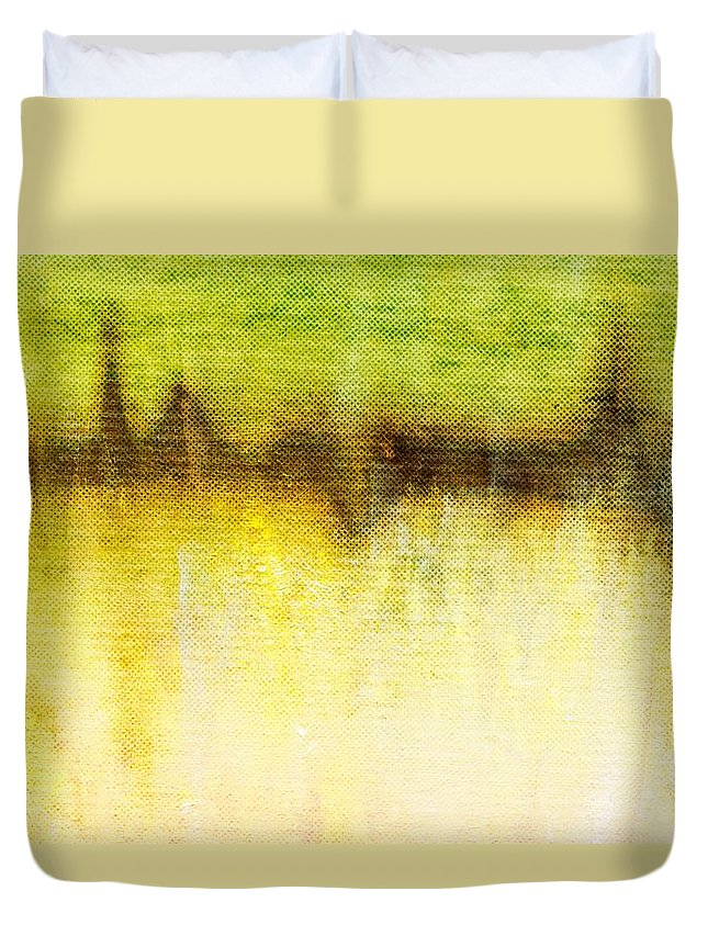 Brett Duvet Cover featuring the digital art Wither Whispers II by Brett Pfister