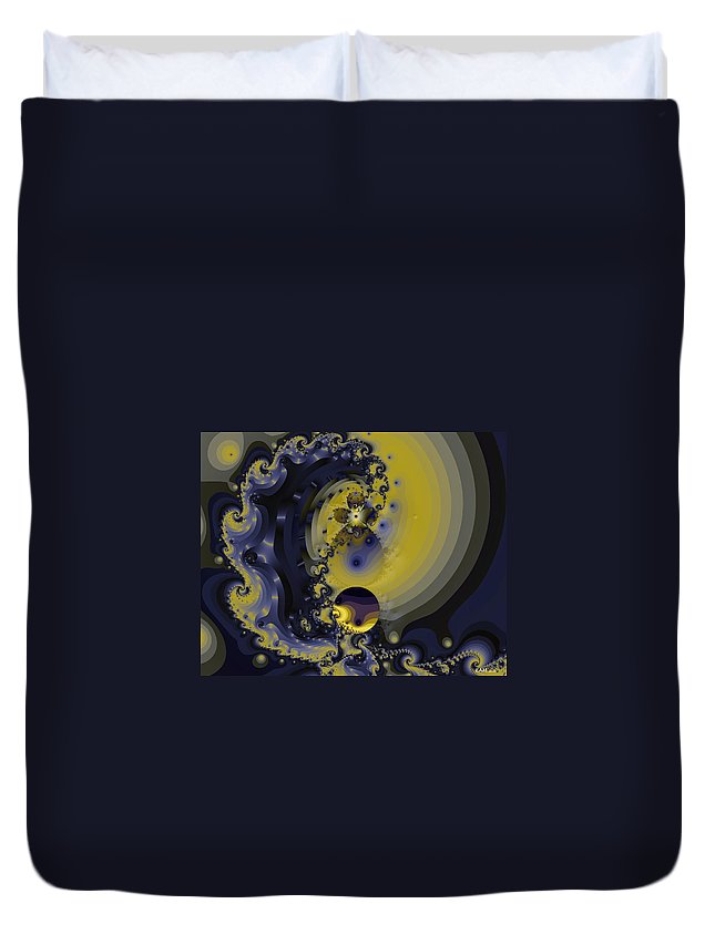 Fractal Art Duvet Cover featuring the digital art Within A Wave by Elizabeth McTaggart
