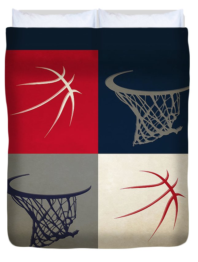 Wizards Duvet Cover featuring the photograph Wizards Ball And Hoop by Joe Hamilton