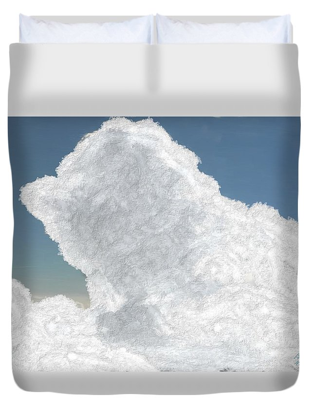 Cloud Duvet Cover featuring the painting Wolkentoren Cloud by Bruce Nutting