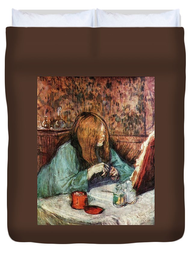Women At The Toilette Duvet Cover featuring the painting Women At The Toilet by Toulouse Lautrec