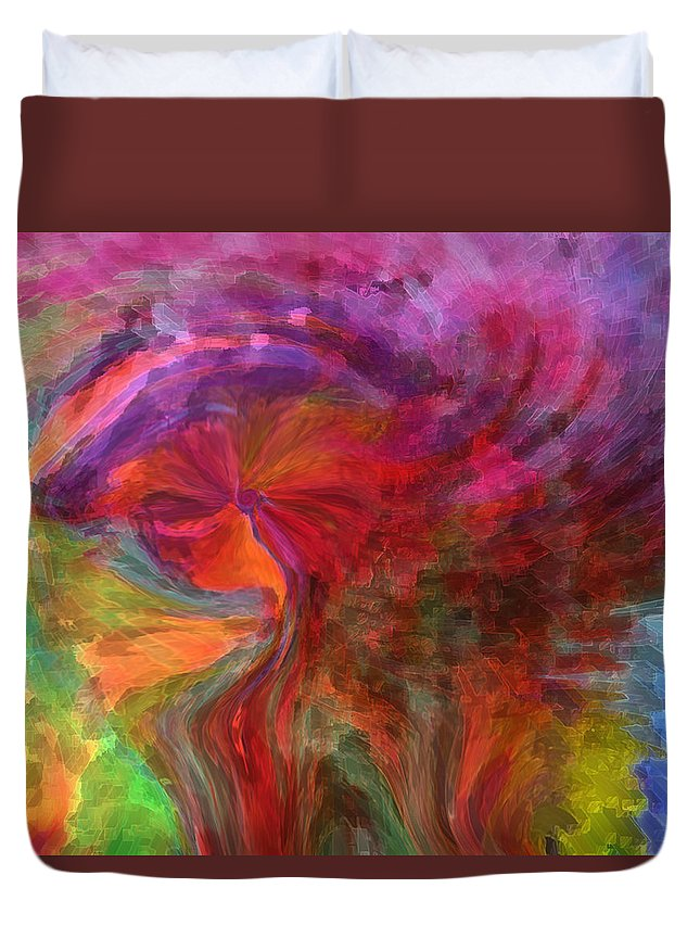 Woman Art Duvet Cover featuring the digital art Women by Linda Sannuti