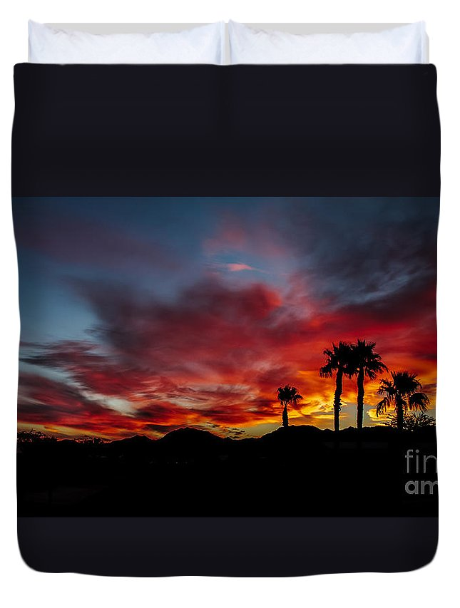 Sunrise Duvet Cover featuring the photograph Wonderful Sunrise by Robert Bales