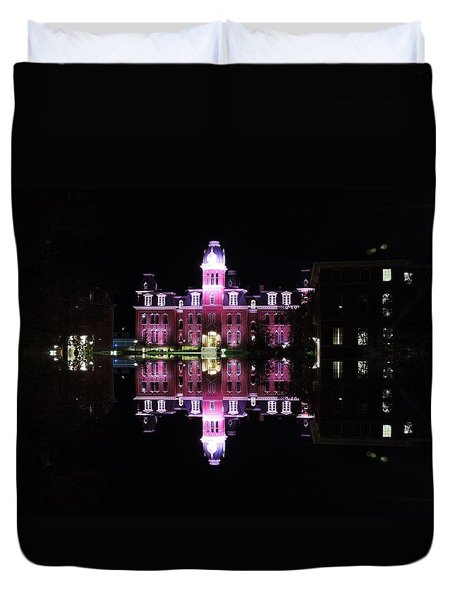 Woodburn Hall Duvet Cover featuring the photograph Woodburn Hall Reflection by Cityscape Photography