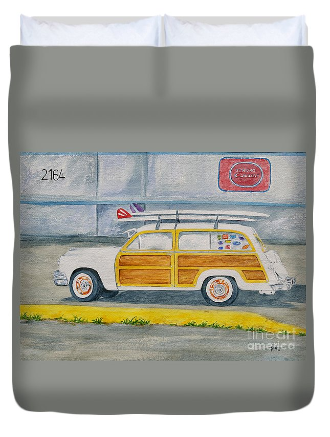 Woody Paintings Duvet Cover featuring the painting Woody by Regan J Smith