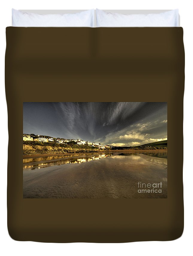 Woolacombe Duvet Cover featuring the photograph Woolacombe Beach by Rob Hawkins