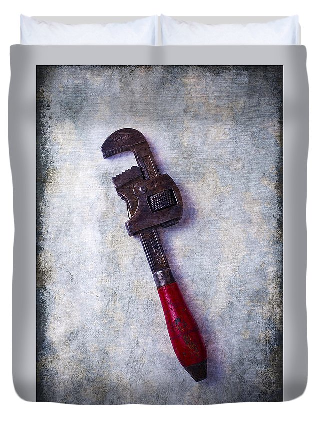 Old Monkey Wrench Duvet Cover featuring the photograph Work Wrench by Garry Gay